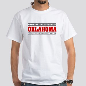 'Girl From Oklahoma' White T-Shirt