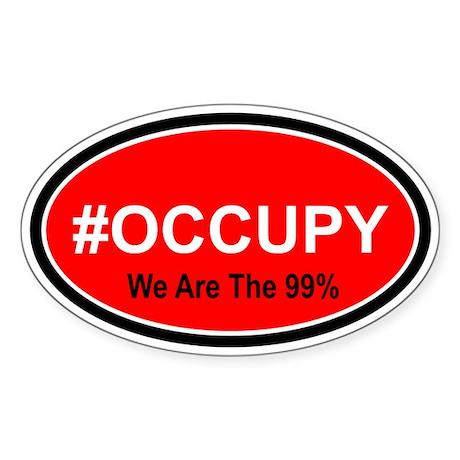 #Occupy Sticker (Oval)
