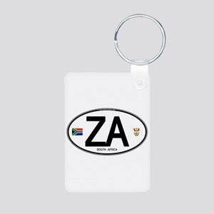 South Africa Euro-style Code Aluminum Photo Keycha