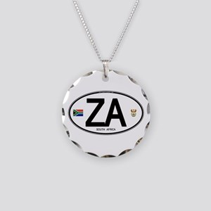 South Africa Euro-style Code Necklace Circle Charm