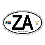 South Africa Euro-style Code Sticker (Oval 50 pk)