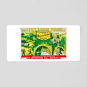 Michigan Beer Label 11 Aluminum License Plate