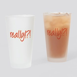 really!?!_Red Drinking Glass