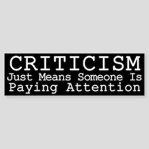Criticism Sticker (Bumper)