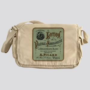 French Cosmetic Label antique Messenger Bag