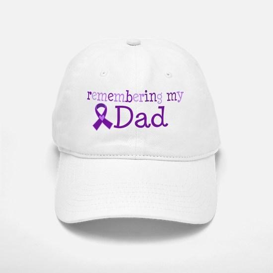 Alzheimers Remember Dad Baseball Baseball Cap