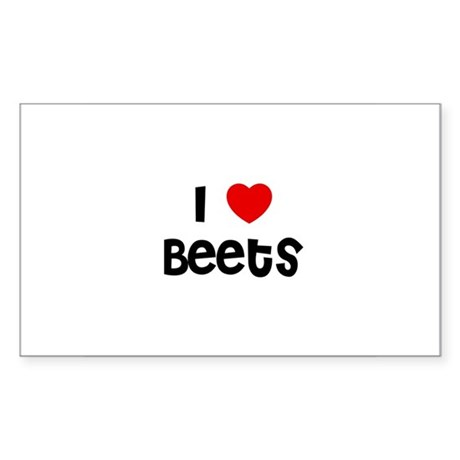 I * Beets Rectangle Sticker