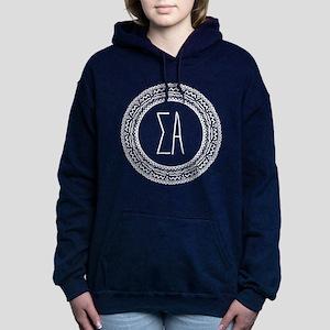 Sigma Alpha Medallion Women's Hooded Sweatshirt