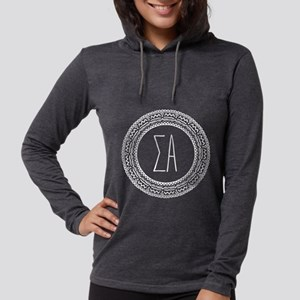Sigma Alpha Medallion Womens Hooded T-Shirts