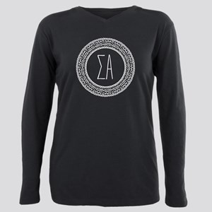 Sigma Alpha Medallion Plus Size Long Sleeve Tee