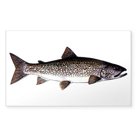Trout Fish Sticker (Rectangle 10 pk)