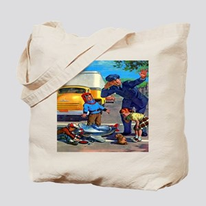 Traffic Accident Tote Bag