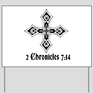 2 Chr 7:14 Kreuz - Yard Sign