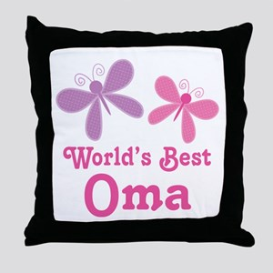 Best Oma Dragonfly Throw Pillow