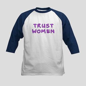 Trust women Kids Baseball Jersey