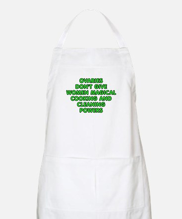 Ovaries don't give women Apron
