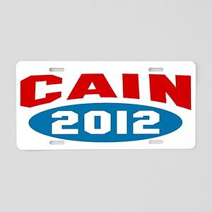 Cain 2012 Aluminum License Plate