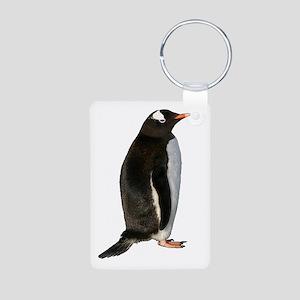 Gentoo Penguin Aluminum Photo Keychain