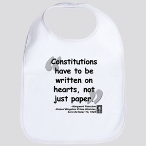 Thatcher Hearts Quote Bib