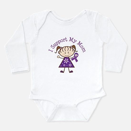 Alzheimers Support Mom Long Sleeve Infant Bodysuit