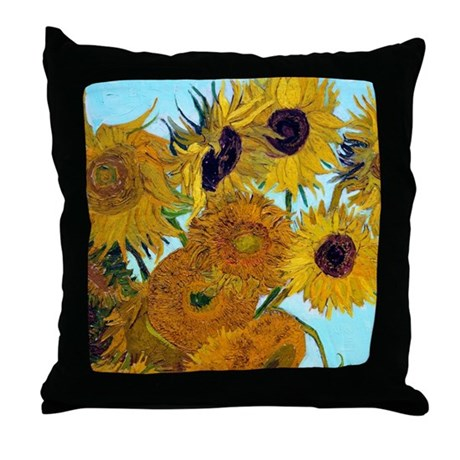Van Gogh - Sunflowers Throw Pillow