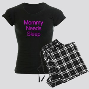 Mommy Daddy Needs Sleep Women's Dark Pajamas