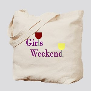 Girls Weekend Wine Tote Bag