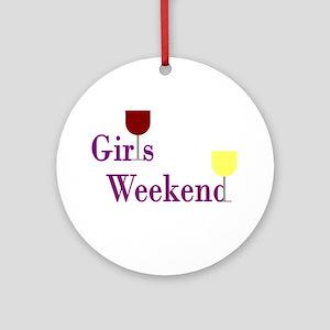 Girls Weekend Wine Ornament (Round)