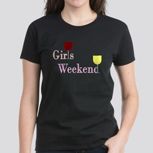 Girls Weekend Wine Women's Dark T-Shirt