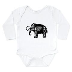 Woolly Mammoth Long Sleeve Infant Bodysuit