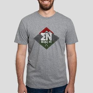 Sigma Nu Mountains Diamond Mens Tri-blend T-Shirts
