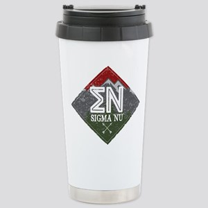 Sigma Nu Mountain 16 oz Stainless Steel Travel Mug