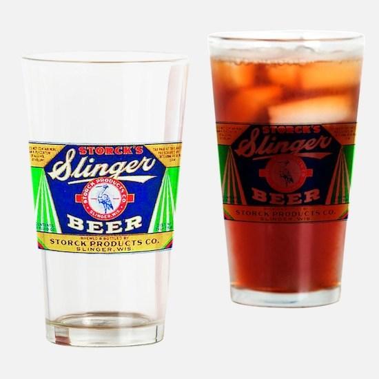 Wisconsin Beer Label 12 Drinking Glass