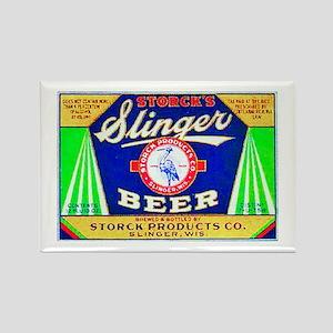 Wisconsin Beer Label 12 Rectangle Magnet