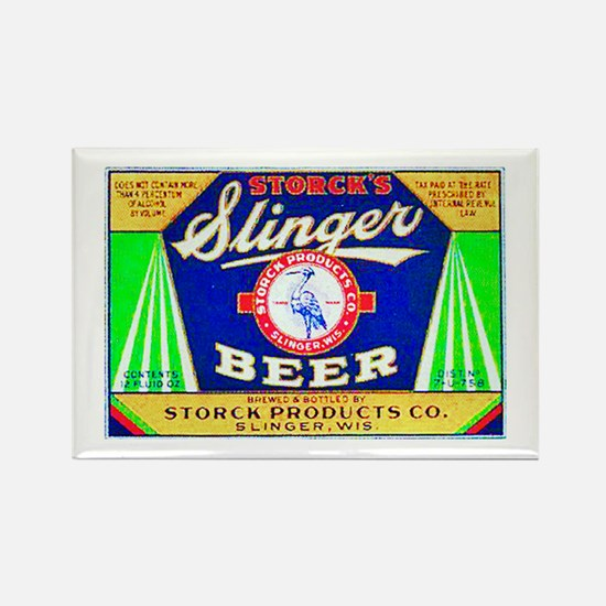 Wisconsin Beer Label 12 Rectangle Magnet