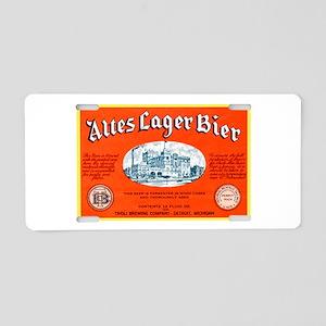 Michigan Beer Label 12 Aluminum License Plate