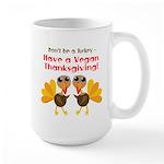 Vegan Thanksgiving Large Mug