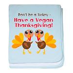 Vegan Thanksgiving baby blanket