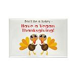 Vegan Thanksgiving Rectangle Magnet (10 pack)