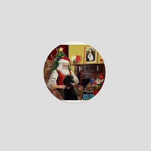 Santa's Poodle (ST-B4) Mini Button