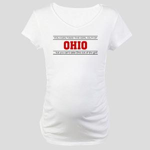 'Girl From Ohio' Maternity T-Shirt