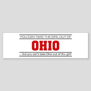 'Girl From Ohio' Sticker (Bumper)