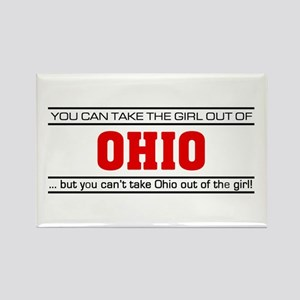 'Girl From Ohio' Rectangle Magnet