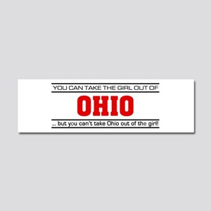 'Girl From Ohio' Car Magnet 10 x 3