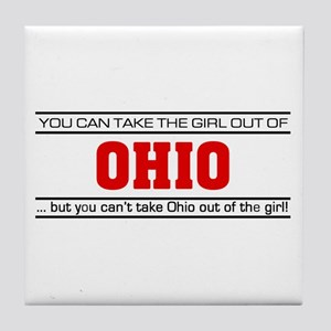 'Girl From Ohio' Tile Coaster