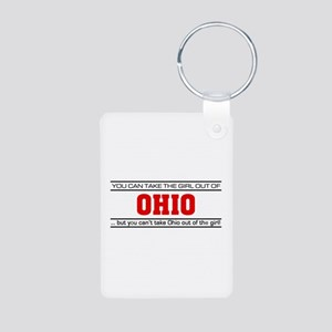 'Girl From Ohio' Aluminum Photo Keychain