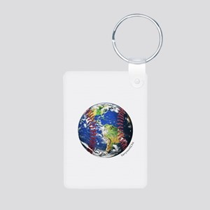 Baseball Earth Aluminum Photo Keychain