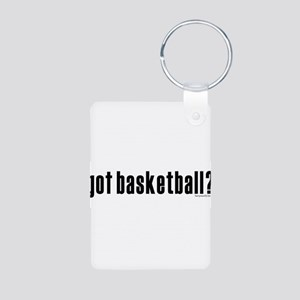 got basketball? Aluminum Photo Keychain