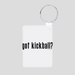 got kickball? Aluminum Photo Keychain