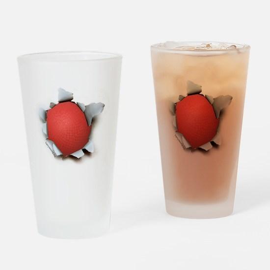 Dodgeball Burster Drinking Glass